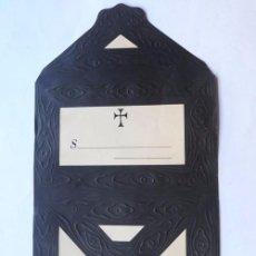 Documentos antiguos: CARTA - SOBRE DE LUTO - ESQUELA FUNERARIA TROQUELADA ( 25 X 20 ) AÑOS 1910-20 / SIN UTILIZAR. Lote 158268346