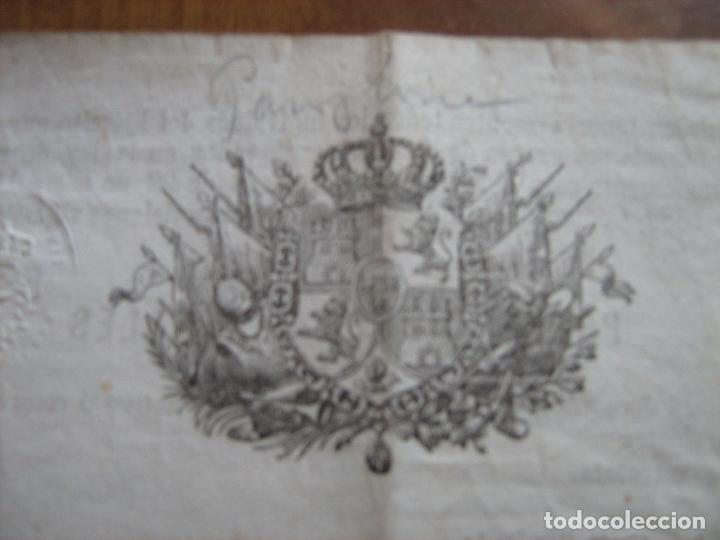 Documentos antiguos: DOCUMENTO INSPECTOR GENERAL DE INFANTERIA FECHADO EN ZARAGOZA EN 1892 - EPOCA DE ALFONSO XII - Foto 2 - 61418863