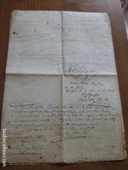 Documentos antiguos: DOCUMENTO INSPECTOR GENERAL DE INFANTERIA FECHADO EN ZARAGOZA EN 1892 - EPOCA DE ALFONSO XII - Foto 3 - 61418863