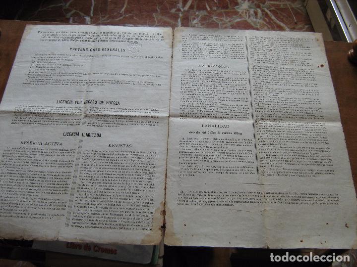 Documentos antiguos: DOCUMENTO INSPECTOR GENERAL DE INFANTERIA FECHADO EN ZARAGOZA EN 1892 - EPOCA DE ALFONSO XII - Foto 4 - 61418863