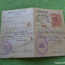 Documentos antiguos: CARNET DE CONDUCIR 1939 - SEGUNDA CLASE. Lote 61438823