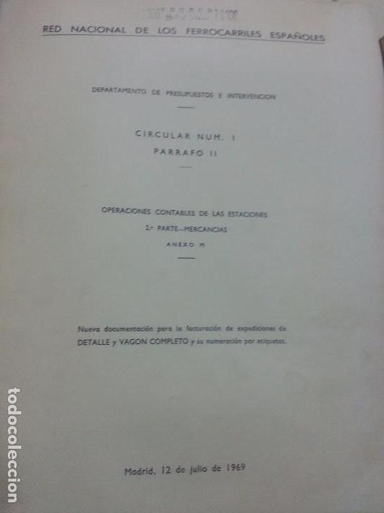 RENFE 1969 CIRCULAR ENCUADERNADA NUEVA DOCUMENTACIÓN PARA FACTURACIÓN (Coleccionismo - Documentos - Otros documentos)