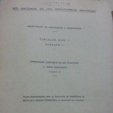 Documentos antiguos: RENFE 1969 CIRCULAR ENCUADERNADA NUEVA DOCUMENTACIÓN PARA FACTURACIÓN. Lote 61583212