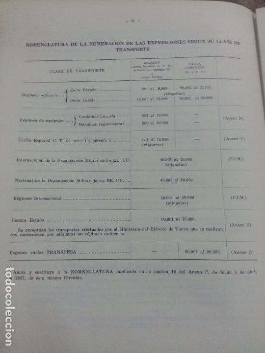 Documentos antiguos: RENFE 1969 Circular encuadernada NUEVA DOCUMENTACIÓN PARA FACTURACIÓN - Foto 3 - 61583212