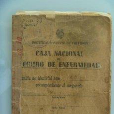 Documentos antiguos: INSTITUTO NACIONAL DE PREVISION, CAJA NACIONAL SEGURO DE ENFERMEDAD . MADRID, 1944. Lote 61663756