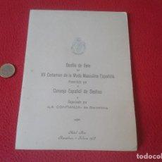 Documentos antiguos: DIPTICO MINUTA HOTEL RITZ BARCELONA 1973 DESFILE DE GALA CERTAMEN MODA MASCULINA ESPAÑOLA. SASTRES. . Lote 61678216