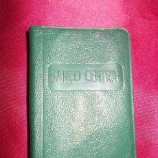 Documentos antiguos: AGENDA DEL BANCO CENTRAL 1954. SIN USO. Lote 61678472