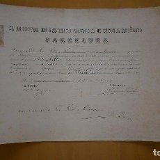 Documentos antiguos: TITULO DE DOCTOR CIENCIAS EXACTAS 1874 Y DE BACHILLER 1871 DE DON JOSÉ PIÑOL Y PEREANTON. Lote 61749044