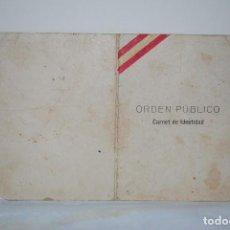 Documentos antiguos: CARNET DE IDENTIDAD 1937.. Lote 61854712