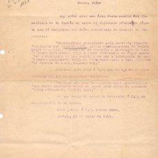 Documentos antiguos: DOCUMENTO CARTA MUERTE EDUARDO DATO 1921 . Lote 62357592