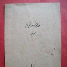 Documentos antiguos: SALON DEL CIRCULO ARTISTICO.-DELTA 51.-MATIAS BALLESTER.-TOMAS GARCES.-EUGENIO D'ORS.-AÑO 1953.. Lote 62537340