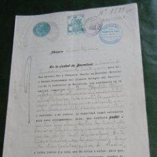 Documentos antiguos: DOCUMENTO PODER NOTARIA ANTONIO PAR Y TUSQUETS, BARCELONA 1931. Lote 62676764