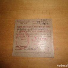 Documentos antiguos: ANTIGUO DOCUMENTO IMPUESTO SOBRE CIRCULACION VEHICULOS POR VIA PUBLICA - BADAJOZ - 1974. Lote 63268876