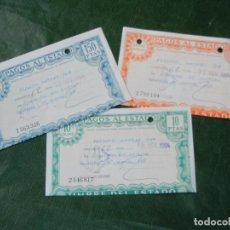Documents Anciens: TRES BILLETES PAGOS AL ESTADO DE 5000, 150 Y 10 PTAS 1984. Lote 64371343
