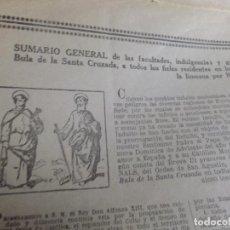 Documentos antiguos: BULA DOBLE DE LA SANTA CRUZADA PAPA BENEDICTO XV AÑO 1923. Lote 64894639