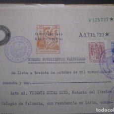 Documentos antiguos: ESCRITURA O DOCUMENTO NOTARIAL, LLEVA SELLO TIMBRE O FISCAL, 1961. Lote 65901158