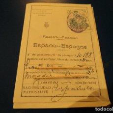 Documentos antiguos: VARIAS HOJAS DE UN PASAPORTE DE 1928. Lote 66168298