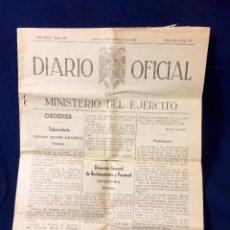 Documentos antigos: DIARIO OFICIAL MINISTERIO EJERCITO 13 SEPT 1956 26,5X19,5CMS. Lote 66219158