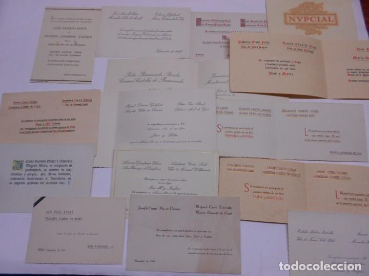 Lote 15 Invitaciones Boda Catalanas Años 40 De Distintas Medidas