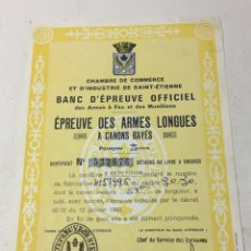 Documentos antiguos: BANCO DE PRUEBAS DE ARMAS. FRANCIA 1960. Lote 66275166