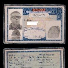 Documentos antiguos: DNI -39.576.571 - C10-2 - CARNET DE IDENTIDAD EXPEDIDO BARCELONA EL3 DE ENERO DE 1975 PERTENECIENT. Lote 66874422