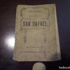 Documentos antiguos: NOVENA AL ARCANGEL SAN RAFAEL 1947. Lote 66951866