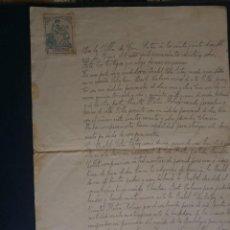 Documentos antiguos: DOCUMENTO PRIVADO DE COMPRA VENTA EL 27 DE ENERO DE 1928 EN SAN MATEO (CASTELLON). Lote 66994134