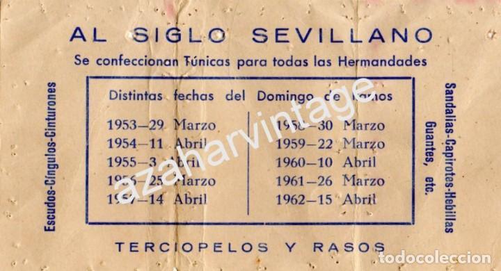 Calendario Perpetuo Semana Santa.Semana Santa Sevilla 1953 Al Siglo Sevilla Publicidad Calendario Perpetuo Semana Santa