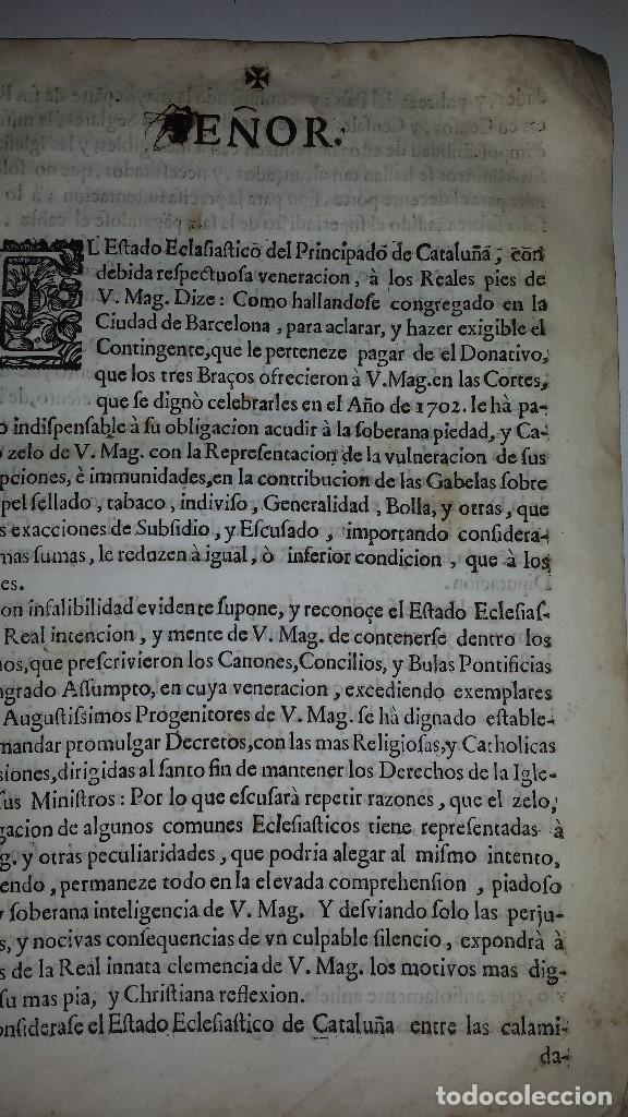 Documentos antiguos: COPIA MEMORIAL DE JOSEPH CASANOVAS 1716 - Foto 3 - 67337105