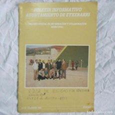 Documentos antiguos: BOLETÍN INFORMATIVO ETXEBARRI INUNDACIÓN DE 1983. Lote 67448461