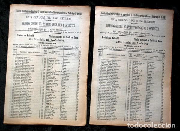TUDELA DE DUERO - VALLADOLID - 1911 - CENSO DEL TÉRMINO MUNICIPAL - DOS DISTRITOS (Coleccionismo - Documentos - Otros documentos)
