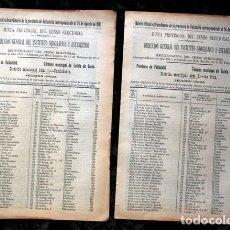 Documentos antiguos: TUDELA DE DUERO - VALLADOLID - 1911 - CENSO DEL TÉRMINO MUNICIPAL - DOS DISTRITOS. Lote 67567365