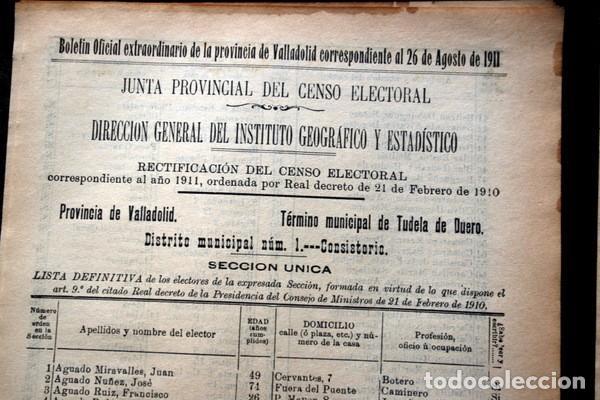 Documentos antiguos: TUDELA DE DUERO - VALLADOLID - 1911 - Censo del Término Municipal - DOS DISTRITOS - Foto 2 - 67567365