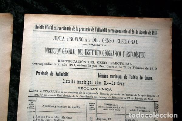 Documentos antiguos: TUDELA DE DUERO - VALLADOLID - 1911 - Censo del Término Municipal - DOS DISTRITOS - Foto 3 - 67567365