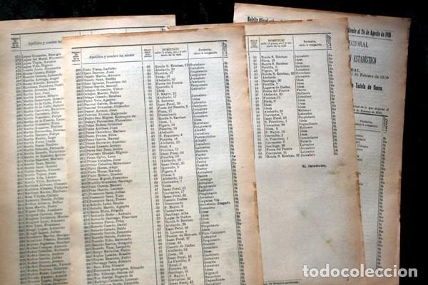 Documentos antiguos: TUDELA DE DUERO - VALLADOLID - 1911 - Censo del Término Municipal - DOS DISTRITOS - Foto 5 - 67567365