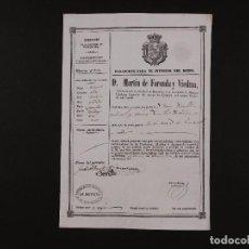 Documentos antiguos: PASAPORTE PARA SANTA COLOMA DE GRAMONET 1852. Lote 67930417