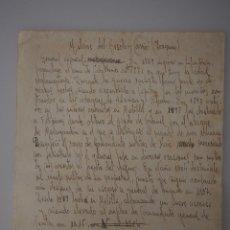 Documentos antiguos: HOJA A MANO ORIGINAL DE ANTIGUA EDITORIAL. JOAQUIN MILANS DEL BOSCH Y CARRIO. Lote 67953125