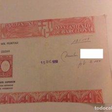 Documentos antiguos: PAGOS AYUNTAMIENTO DE BARCELONA 1958. Lote 67958865