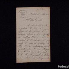 Documentos antiguos: CARTA DE RECOMENDACION DIRIGIDA A D ESTEBAN GARRIDO 1816. Lote 68200473