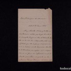 Documentos antiguos: CARTA DIRIGIDA A LA MARQUESA DE MANZANEDO 1875. Lote 68200669