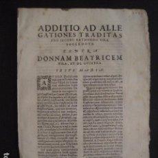 Documentos antiguos: GUIMERA - ( POBLACIO LLEIDA) - DOCUMENTO SIGLO XVII - VER FOTOS -(V-7718). Lote 68247341