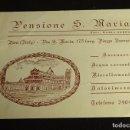 Documentos antiguos: TARJETA PENSIONE S. MARIA. PISA (ITALIA). FORMATO 14 X 10 CM. Lote 68281197