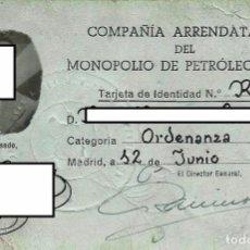 Documentos antiguos: TARJETA DE IDENTIDAD DE UN TRABAJADOR. AÑO 1946.. Lote 68580225