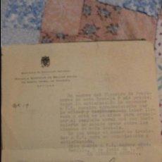 Documentos antiguos: CARTA AGRADECIMIENTO.ESCUELA SUPERIOR BELLAS ARTES.SEVILLA.JOSEFA HERNANDEZ DE MONTIS.SEVILLA.1957. Lote 68680585
