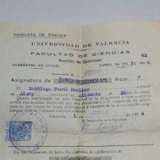 Documentos antiguos: ANTIGUA MATRÍCULA UNIVERSIDAD AÑO 34. Lote 68737553