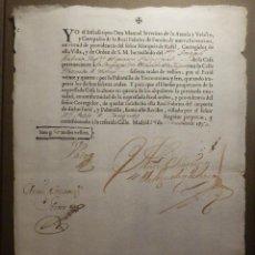 Documentos antiguos: RECIBO FAROL Y PALOMILLA, REAL FABRICA DE FAROLES DE NUEVA INVENCION, 60 RELAES DE VELLON - AÑO 1750. Lote 68795237