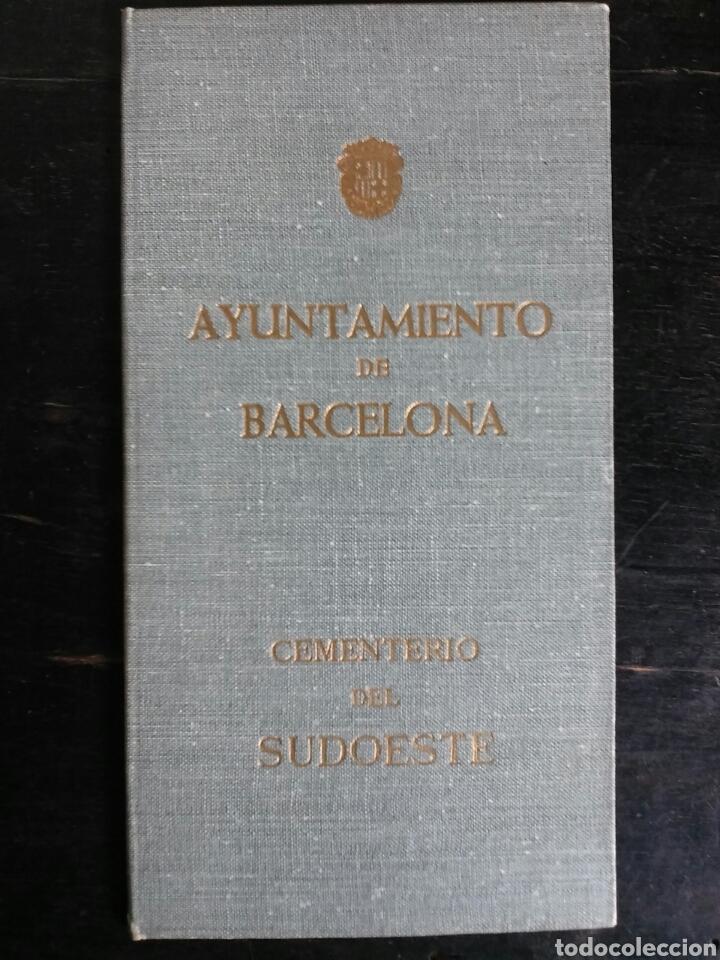 DOCUMENTO.TITULO DE DERECHO FUNERARIO SOBRE NICHO EN EL CEMENTERIO SUDOESTE DE BARCELONA (Coleccionismo - Documentos - Otros documentos)