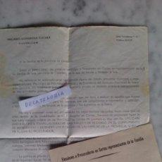 Documentos antiguos: CARTA DE DON MACARIO GUARDIOLA CUCALA EXPONIENDO SU PROGRAMA EN LAS ELECCIONES A PROCURADORES 1967. Lote 69629757