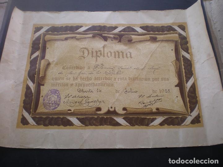DIPLOMA ESCOLAR, CHESTE, VALENCIA, 1928, CON LA FIRMA DEL ALCALDE (Coleccionismo - Documentos - Otros documentos)
