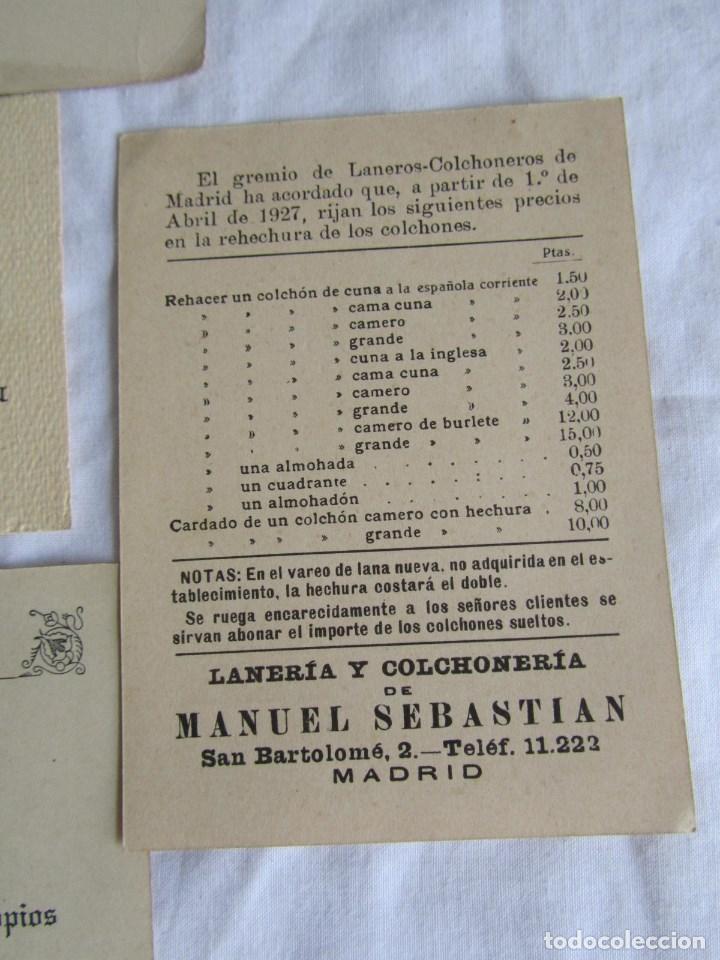10 tarjetas de publicidad tiendas de muebles en Madrid. Años 30-40
